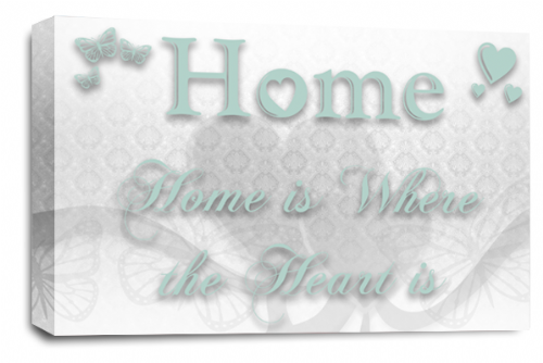 Home Quote Wall Art Picture White Duck Egg Love Print